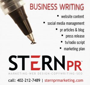 omaha neb copy writer stern pr marketing small ad