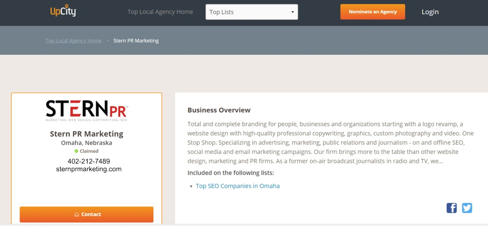 Upcity-voted-best-omaha-seo-companies-sternpr-listing
